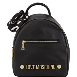 Logo Studded Backpack With Scarf