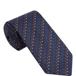 Diagonal Dot Silk Tie