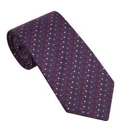 Square Dot Pattern Silk Tie