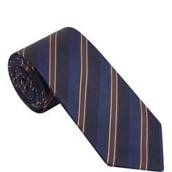 Contrast Stripe Silk Tie