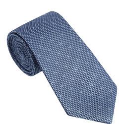 Textured Spot Pattern Silk Tie