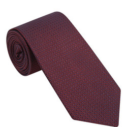 Textured Contrast Silk Tie