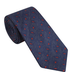 Mini Paisley Pattern Silk Tie
