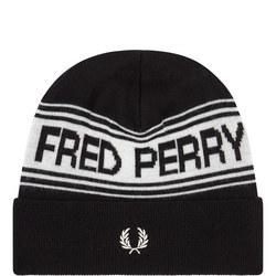 Striped Logo Beanie Hat