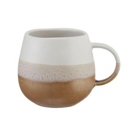 Croft Collection Dipped Stoneware Artisan Mug, 400ml, White/Brown