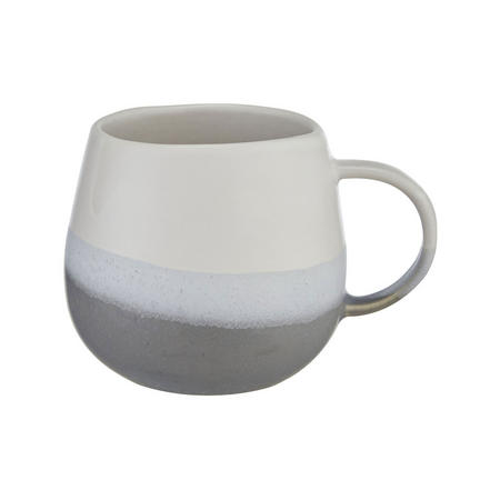 Croft Collection Dipped Stoneware Artisan Mug, 400ml, White/Blue