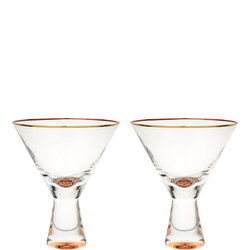 John Lewis Martini Glasses, 200ml, Set of 2, Clear/Gold