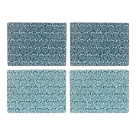 John Lewis Java Reversible Placemats, Set of 4, Blue
