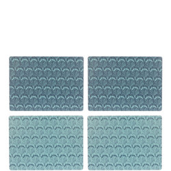 John Lewis Java Reversible Placemats, Set of 4, Blue