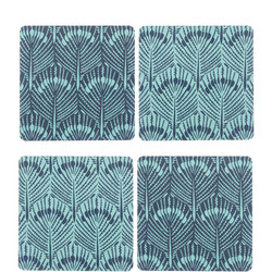 Java Reversible Coasters Set of 4