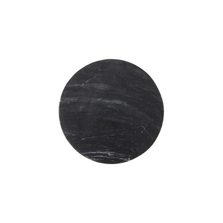 Design Project by John Lewis No.177 Marble 25cm Plate, Black