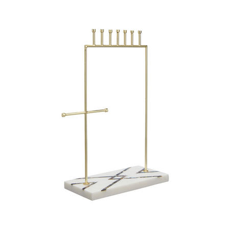 Mother of Pearl Jewellery Stand White