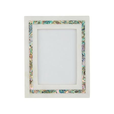 "John Lewis Marble & Mother of Pearl Photo Frame, 5"" x 7"" (13 x 18 cm), White"