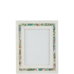 "John Lewis Marble & Mother of Pearl Photo Frame, 5"" x 7"" (13 x 18 cm), White"