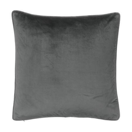John Lewis Lustre Velvet Cushion, Steel