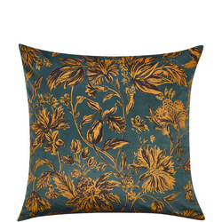 John Lewis Florentina Cushion, Teal / Tiger's Eye