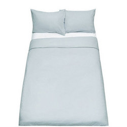 John Lewis Textured and Decorative Pavone Double Duvet Cover and Pillowcase Set, Silver