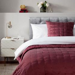 John Lewis Boutique Hotel Silk Cushion, Mulberry 30 x 60cm