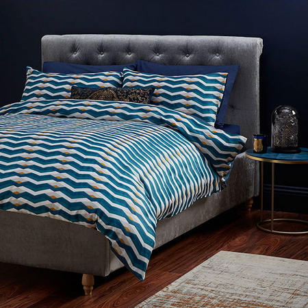 John Lewis Soft and Silky Arezzo Double Duvet Cover Set, Multi