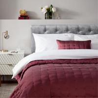 Boutique Hotel Silk Bedspread Mulberry L200 x W150cm