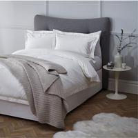 Soft and Silky Garda Lattice Stitch Egyptian Cotton 400 Thread Count Oxford Pillowcase C