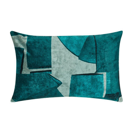 Design Project by John Lewis No.124 Cushion, Teal Velvet