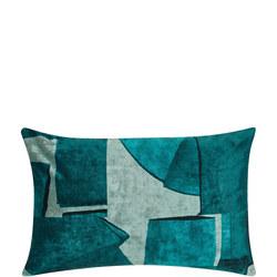 Design Project by John Lewis No.124 Cushion, Teal Velvet 40 x 60cm
