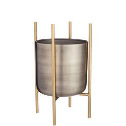 Design Project by John Lewis No.160 Indoor Planter, Metallic, Medium
