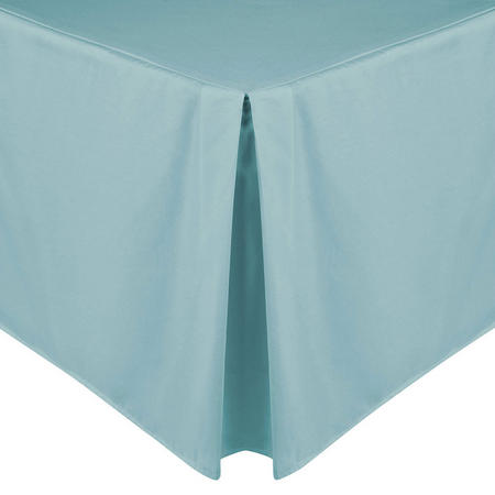 200 Thread Count Egyptian Cotton Centre Pleat Valance Duck Egg