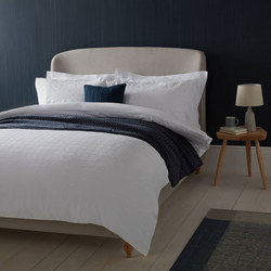 Croft Collection Lorna Duvet Cover White