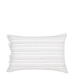 Croft Collection Relaxed Stripe Standard Pillowcase White