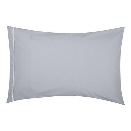 Croft Collection Sadie Standard Pillowcase Grey