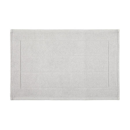 Croft Collection Boucle Bath Mat Silver Grey