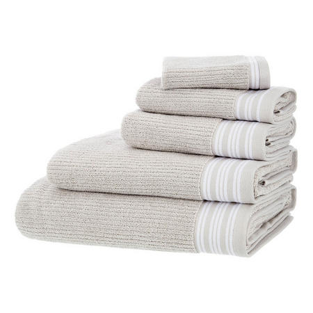 Croft Collection Modal Mix Rib Towels Grey