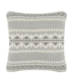 John Lewis Fairisle Knit Fur Cushion