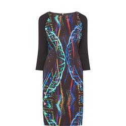 Round Neck Printed Dress Dress