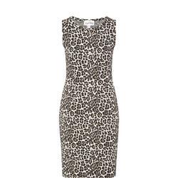 Leopard Print Sleeveless Dress