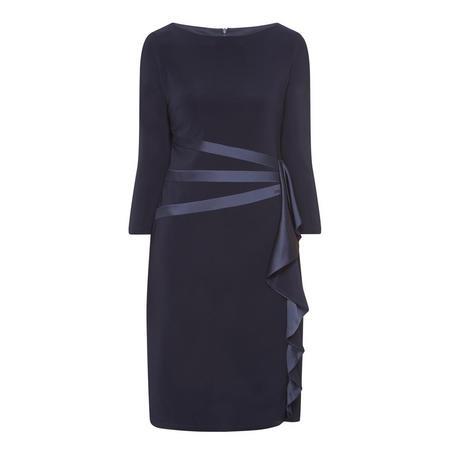 Satin Detail Straight Fit Dress