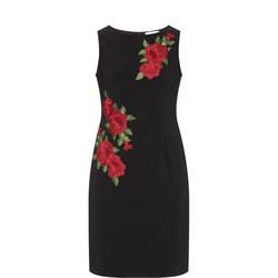 Rose Embroidered Sleeveless Dress