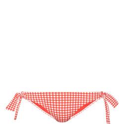 Capri Gingham Tie Bikini Briefs