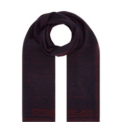 Knitted Wool Blend Logo Scarf