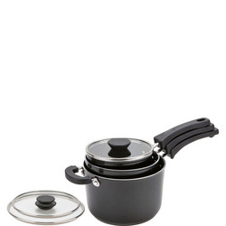 Kitchen Hacks 3 Piece Aluminium Nesting Pan Set