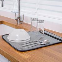 Kitchen Hacks Microfiber Dish Drying Mat