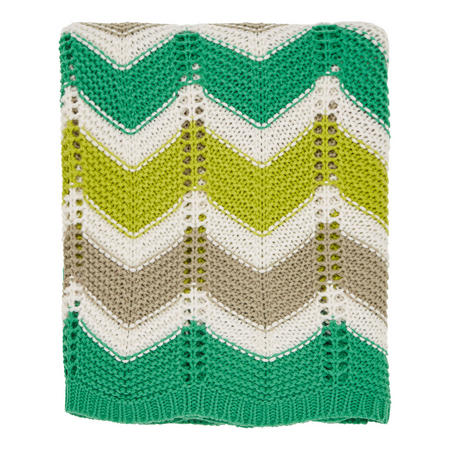 Jacaranda-Amalfi Knitted Throw Tropical