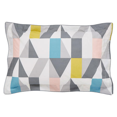 Nuevo Oxford Pillowcase Blush-Charcoal