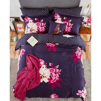 Winter Bloom Cushion Navy