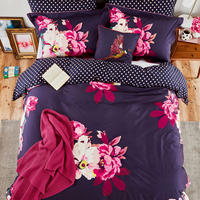 Winter Bloom Duvet Cover Navy
