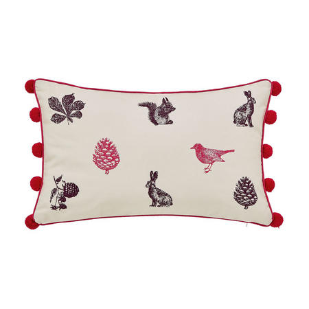 Joules Harvest Garden Cushion Bilberry