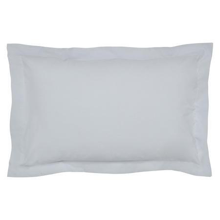 300 Thread Count Cotton Percale Oxford Pillowcase Blue Mist