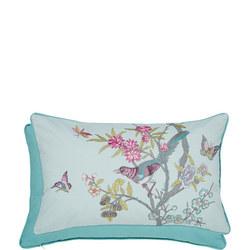 Chinese Bluebird Cushion Aqua